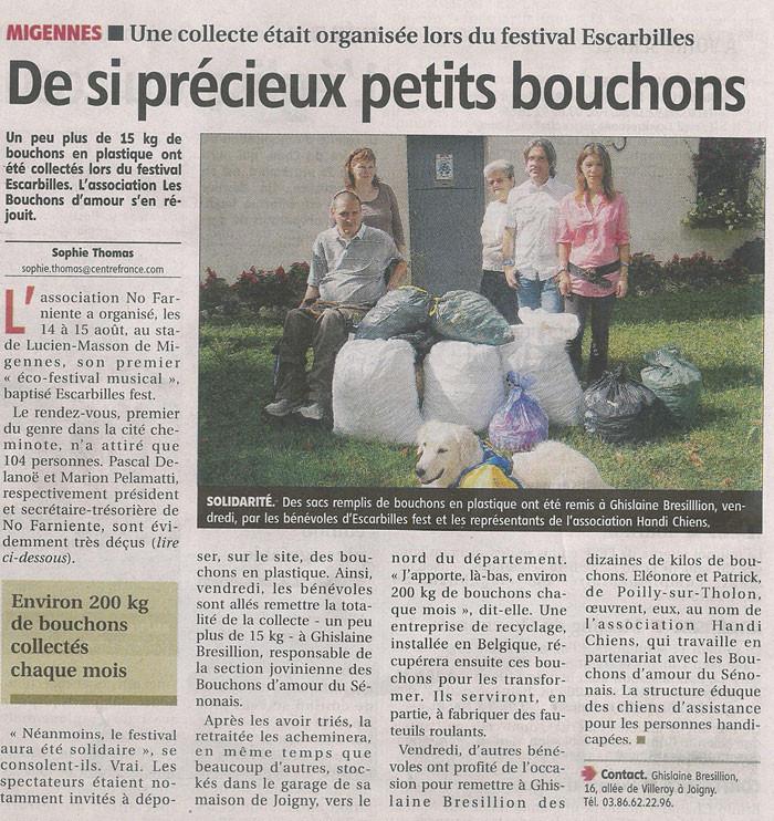 L'Yonne républicaine de septembre 2010