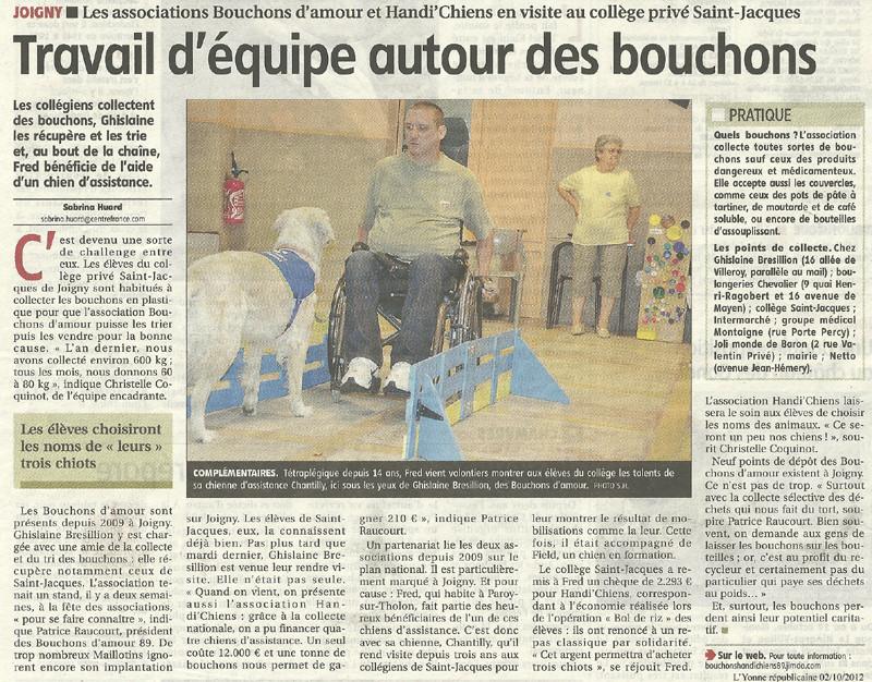 L'Yonne républicaine du 2 octobre 2012