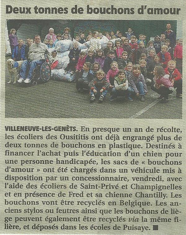 L'Yonne républicaine du 14 octobre 2013.