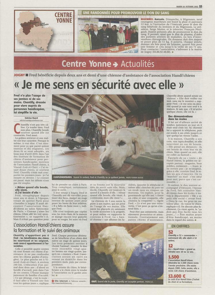 L'Yonne républicaine du 16 octobre 2012