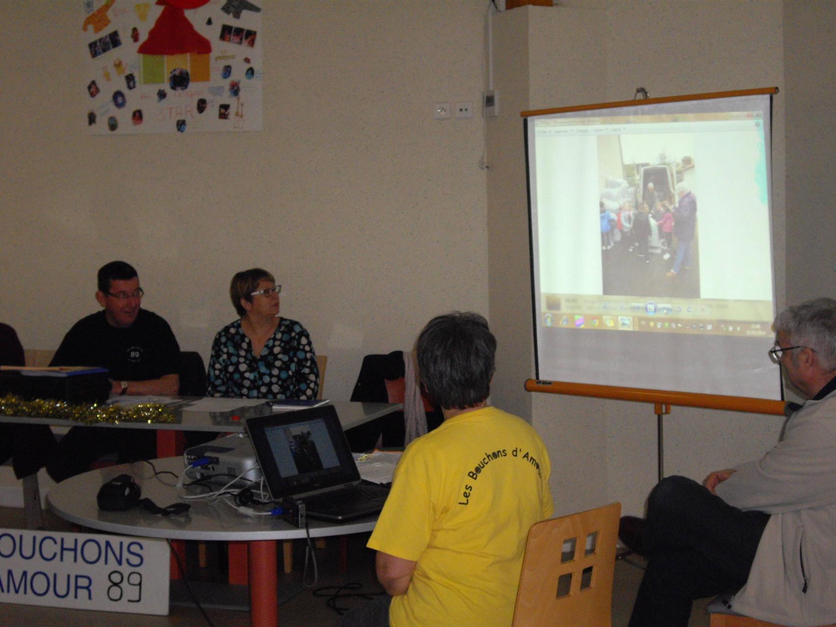 Le bilan des activités 2013 présenté aux bénévoles.