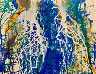 'Fließen II', Acrylic auf canvas, 60x45cm