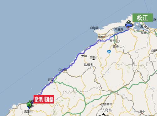 松江方面からお越しの場合