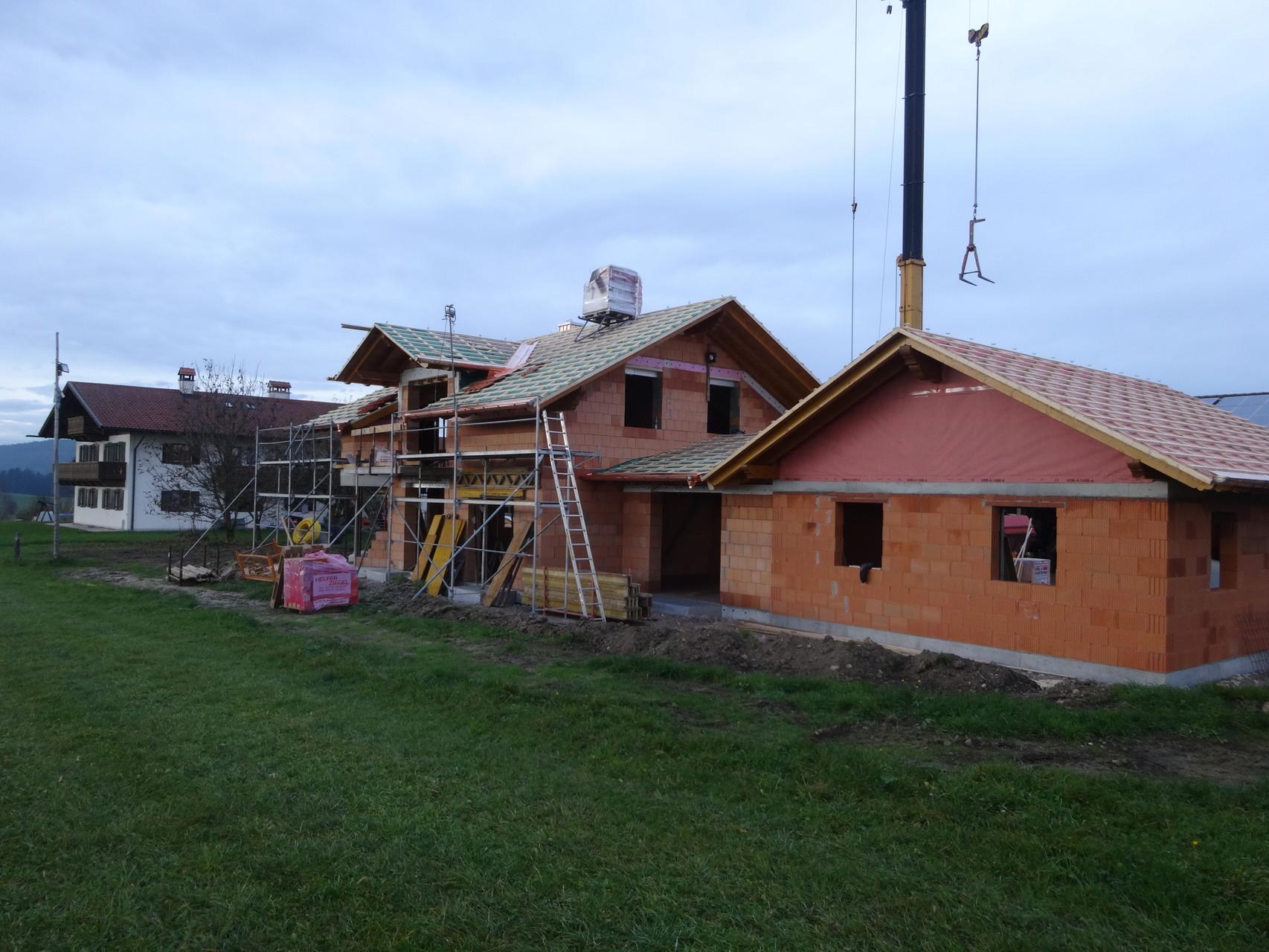 Spenglerarbeiten im Rahmen des Neubaus eines Einfamilienhauses