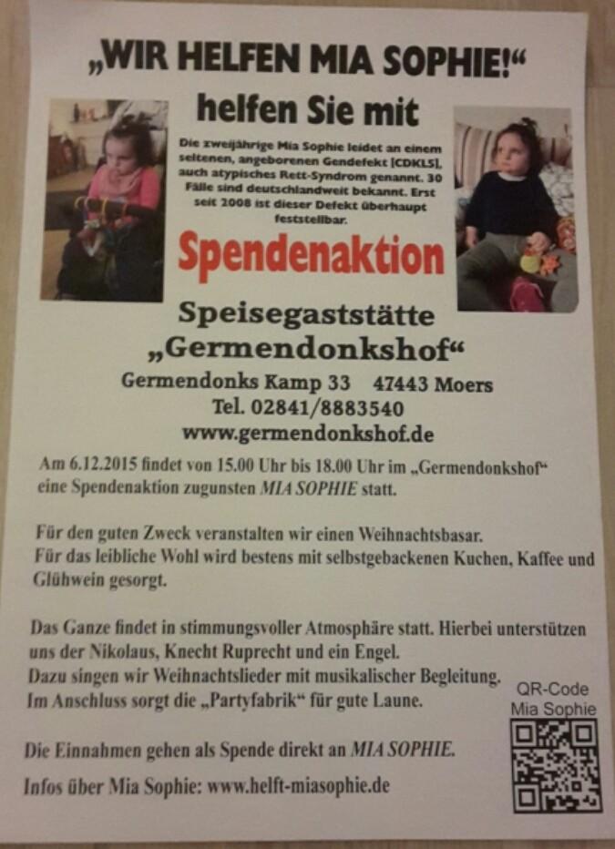 Spendenaktion für Mia Sophie :)
