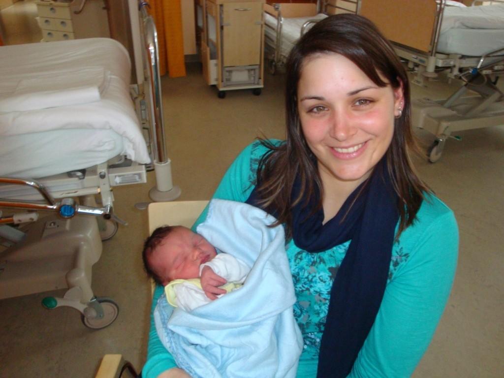 Tante Angela mit Lukas