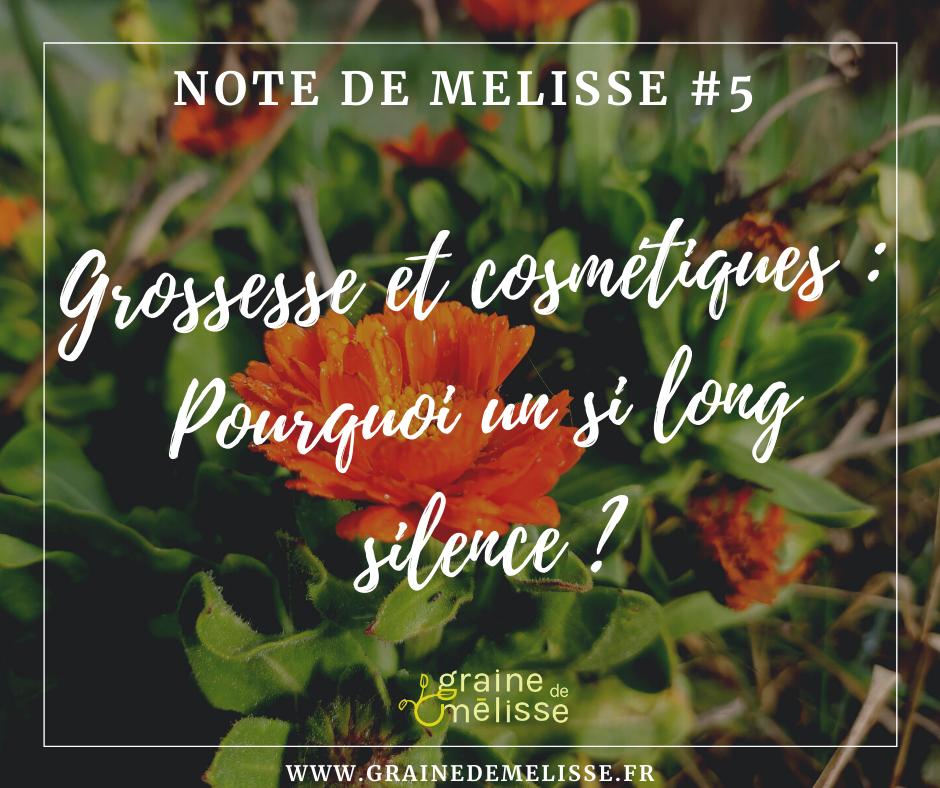 Grossesse et cosmétiques : pourquoi un si long silence ?