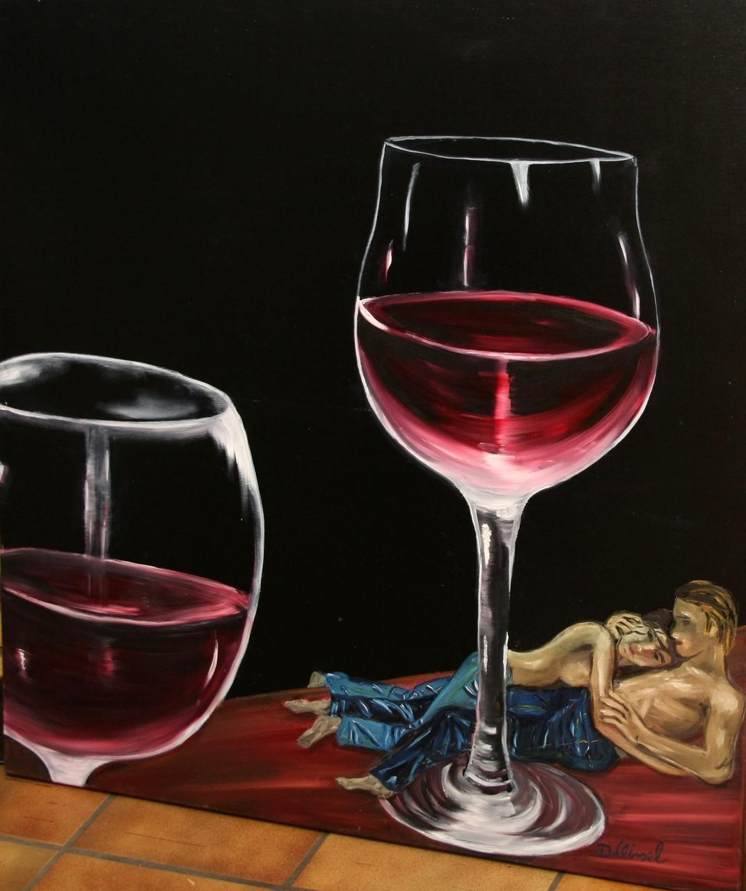 Rotweingläser 100 x 100 cm