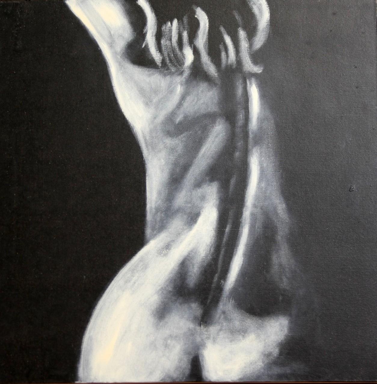 Akt 2 schwarz-weiß 60 x 60 cm