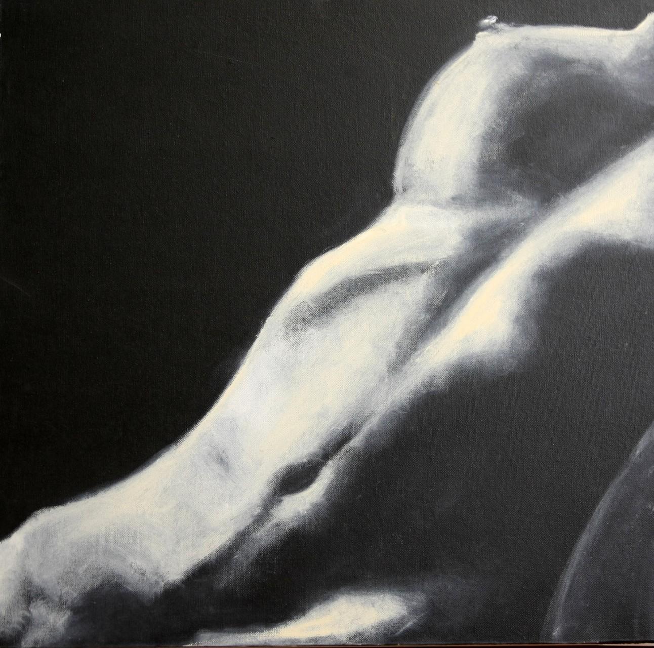 Akt 1 schwarz-weiß  60 x 60 cm