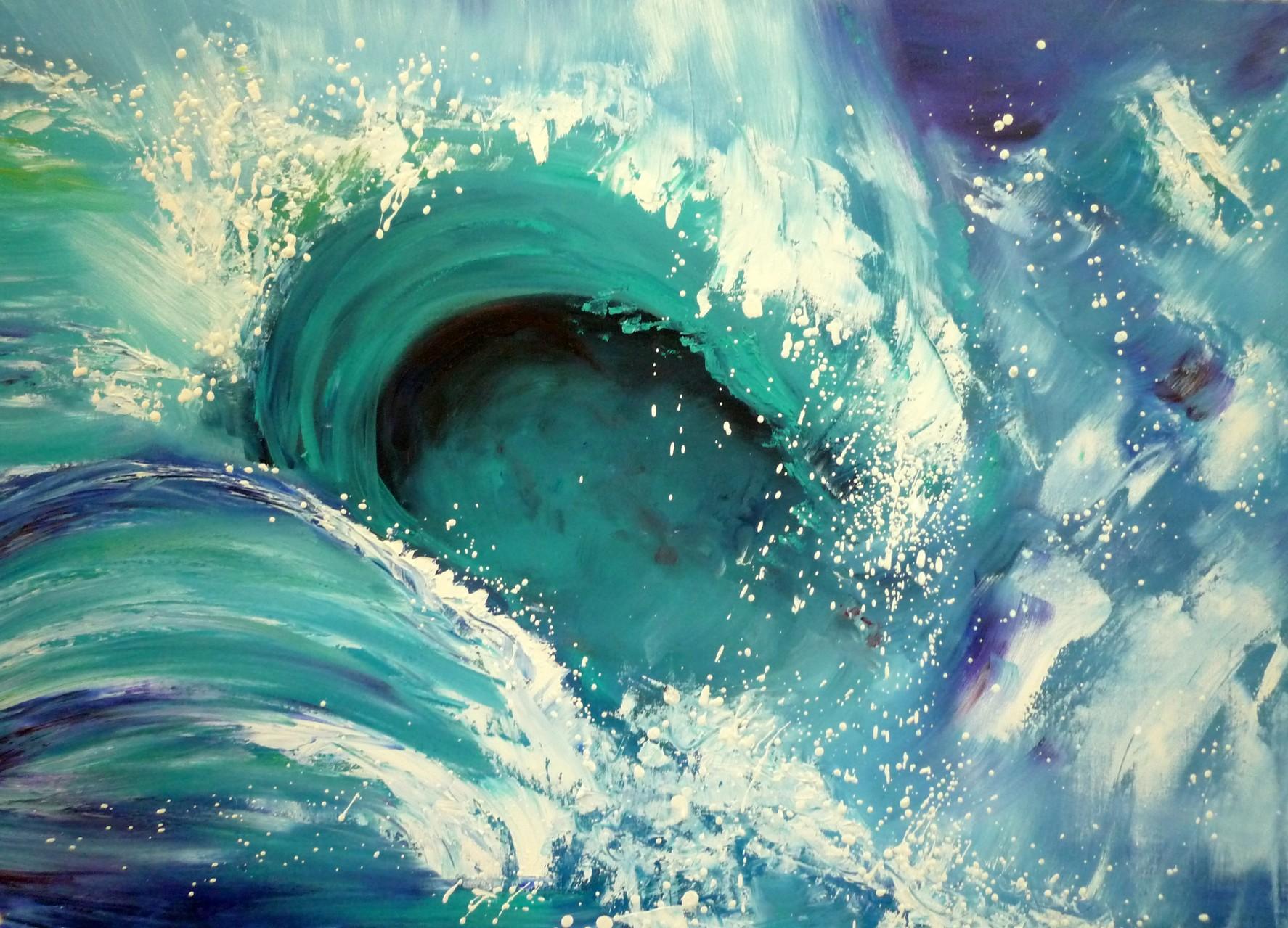 Welle 1  80 x 60 cm