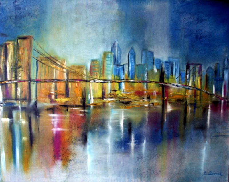 New York 100 x 80 cm  - verkauft -