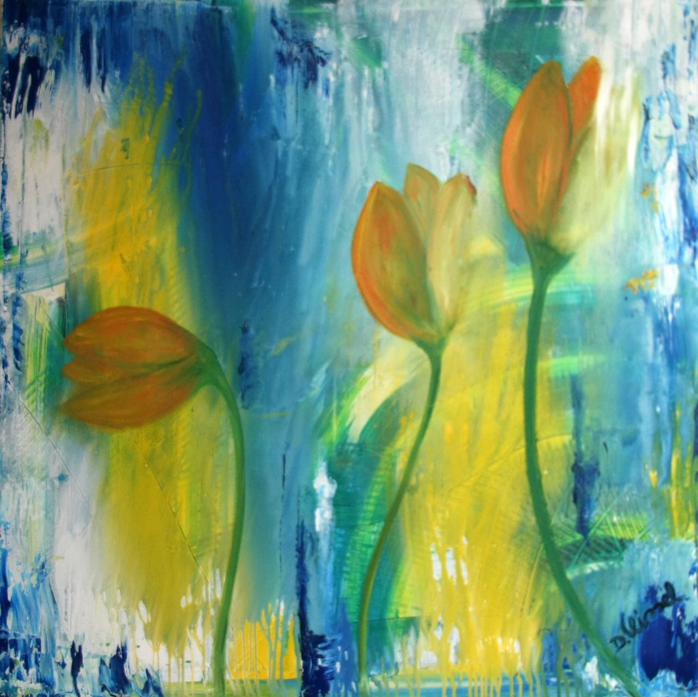 gelbe Tulpen 100 x 100 cm