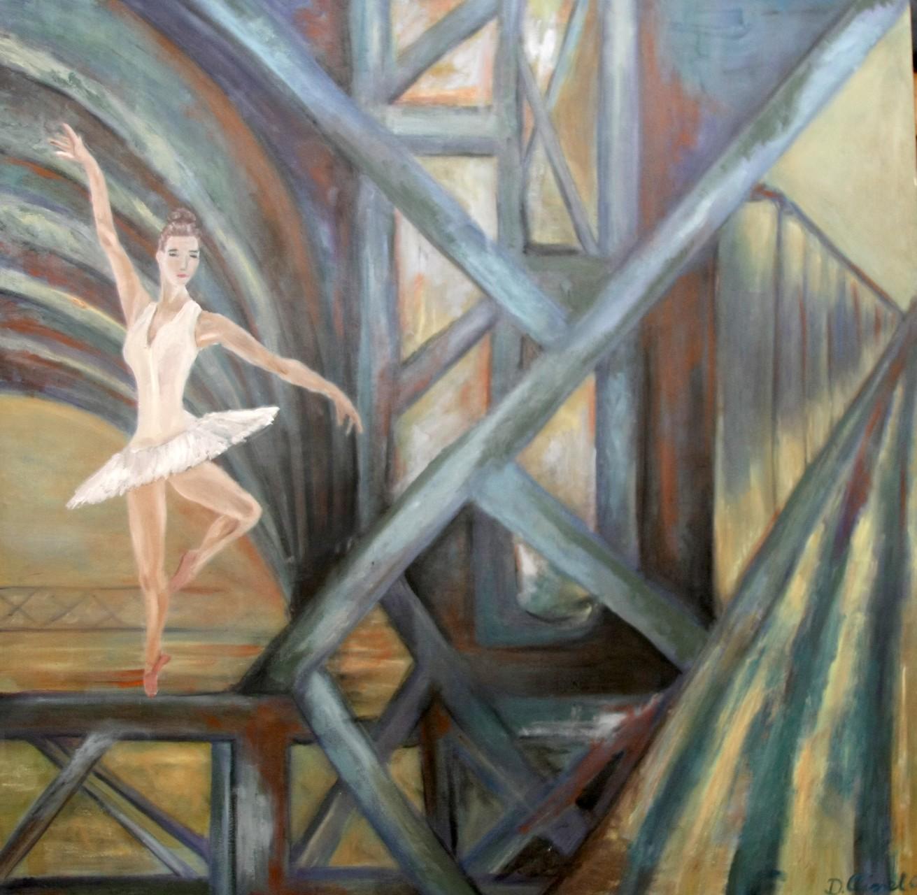 Ballett-Tänzerin 100 x 100 cm