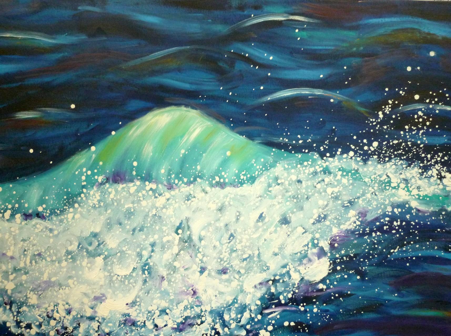 Welle 3  80 x 60 cm