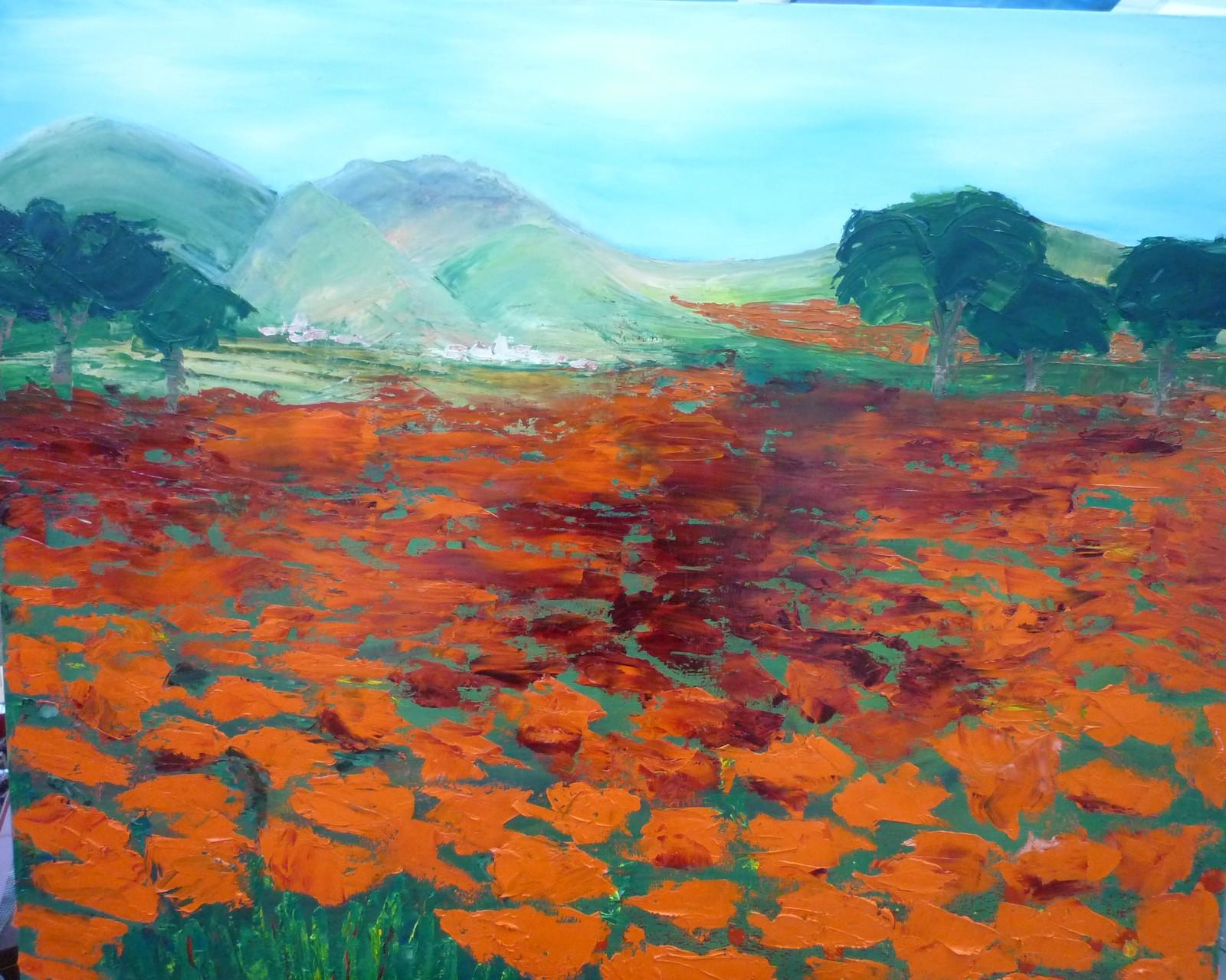 Mohnfeld 100 x 80 cm -verkauft-