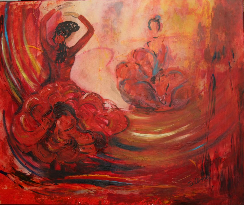 Flamencotänzerin 120 x 100 cm