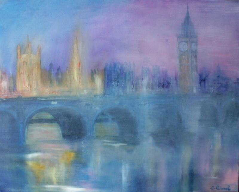 London im Nebel 100 x 80 cm - verkauft-