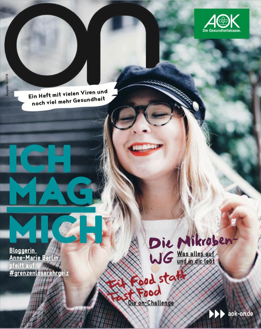 Bildredaktion für :wdv / Kunde AOK ON Jugendmediensystem / Anne Marie Berlin (Bloggerin)