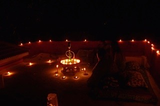 Nachtstimmung auf dem Dach