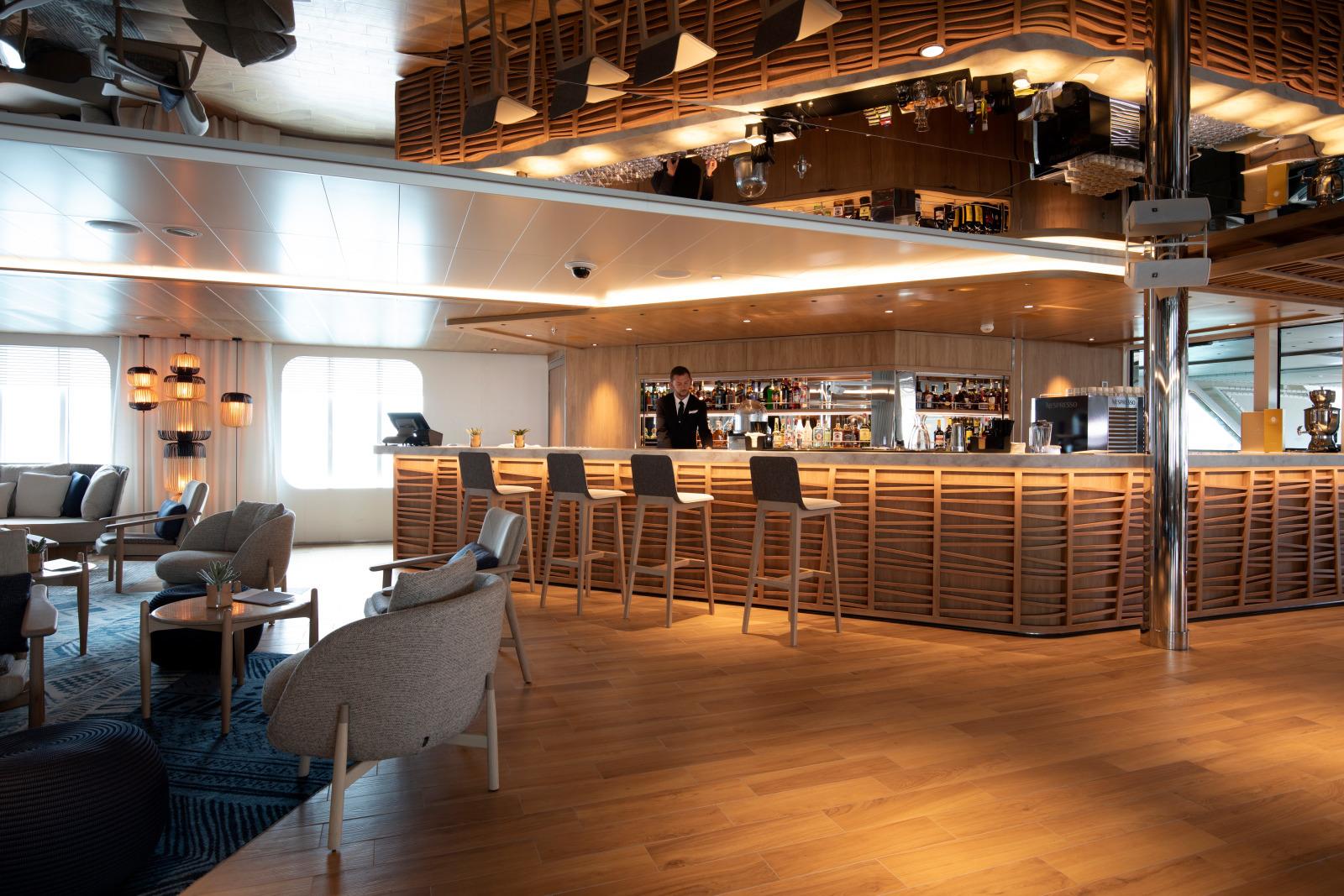 Le Champlain Schiff PONANT Restaurant Bar Lounge