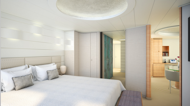 Grand Suite Schlafbereich, ca. 71 m², inkl. privater Veranda (ca. 16 m²)