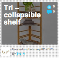 Tri – collapsible shelf on Archello.com