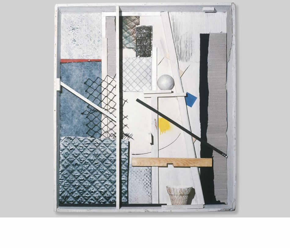 Kiste II, Assemblage, 1980, 200 x 180 x 20 cm