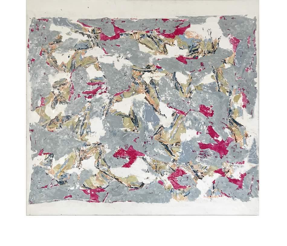 Rote Flieger, Décollage, Acryl auf Leinwand, 2017, 150 x 160 cm