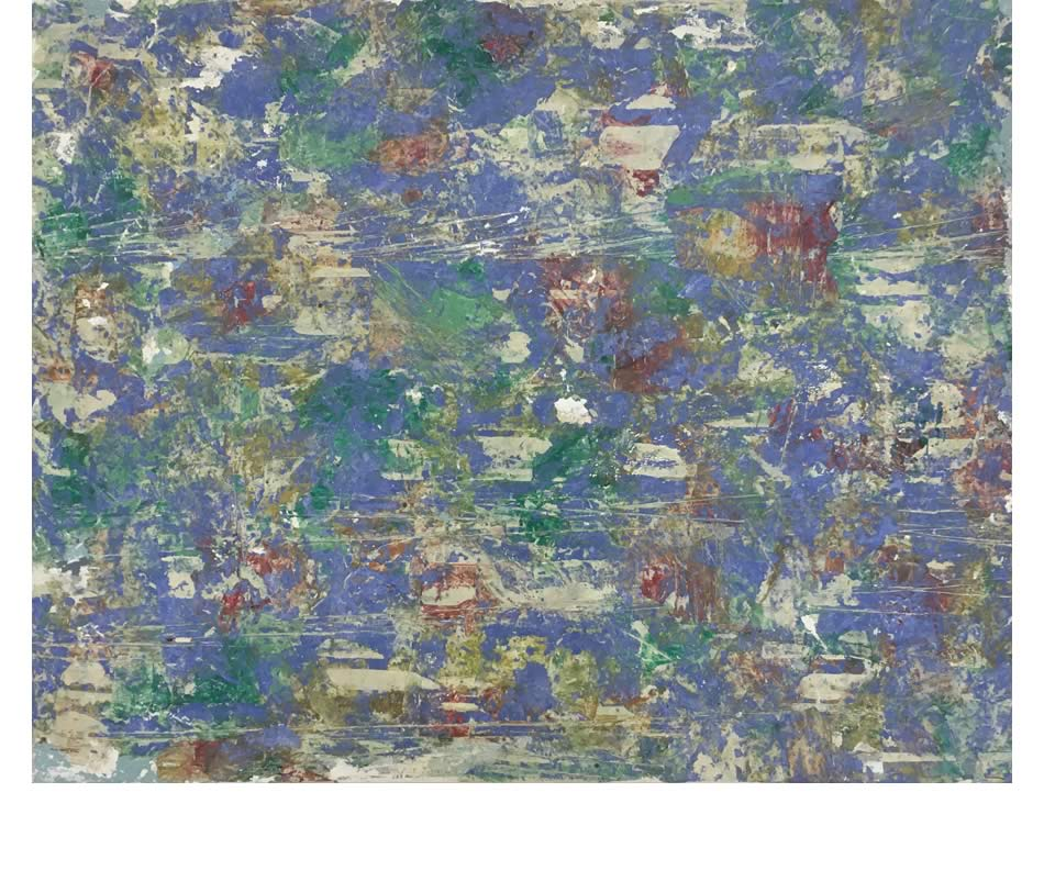 Nachtbild I, Décollage, Acryl auf Leinwand, 2020, 80 x 100 cm