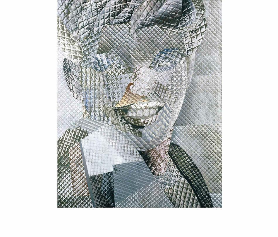 Mona, Frottage, Materialdruck, Öl auf Leinwand, 1978, 185 x 150 cm (Privatbesitz)
