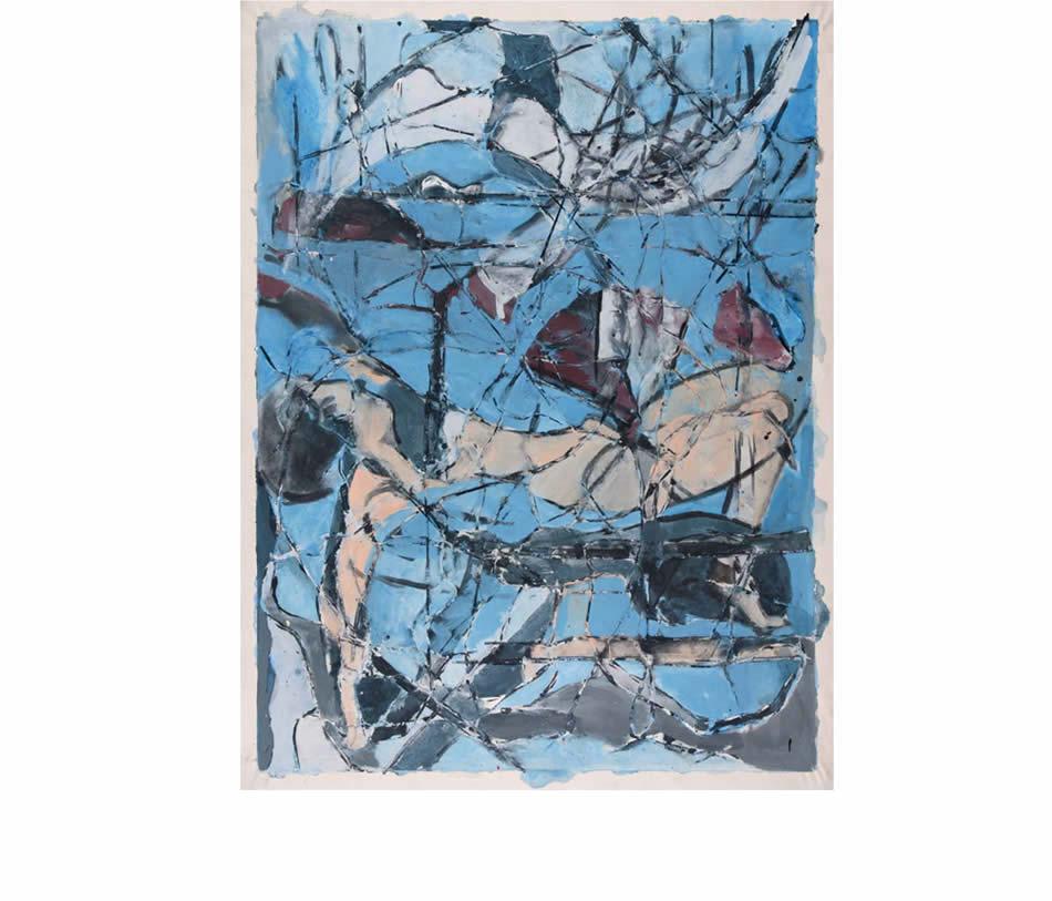 Schwebende, Acryl auf Leinwand, 2008, 200 x 150 cm