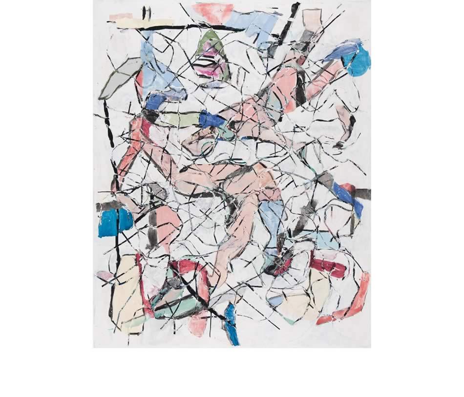 Liegende, Acryl auf Leinwand, 2008 , 175 x 145 cm