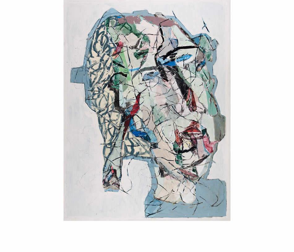 Großer Kopf – Maya, Acryl auf Leinwand, 2010, 200 x 150 cm