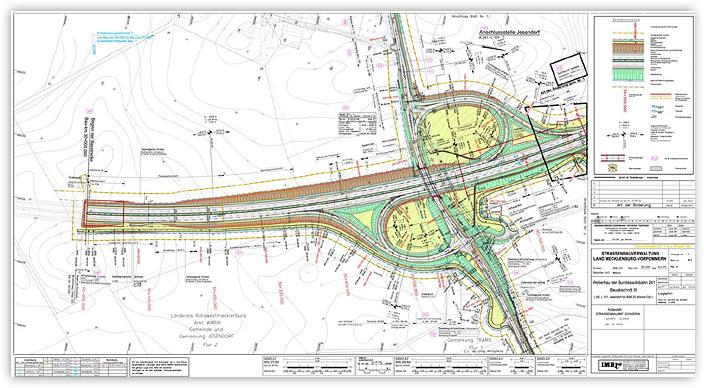 Neubau der Autobahn A 241 - Anschlussstelle Jesendorf