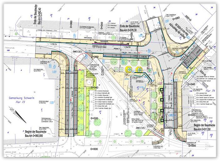Umgestaltung Platz der Freiheit in Schwerin, 2. Baustufe - Detailplanung