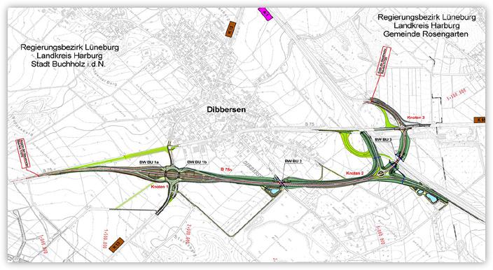 Verlegung der Bundesstraße 75 – Ortsumgehung Dibbersen