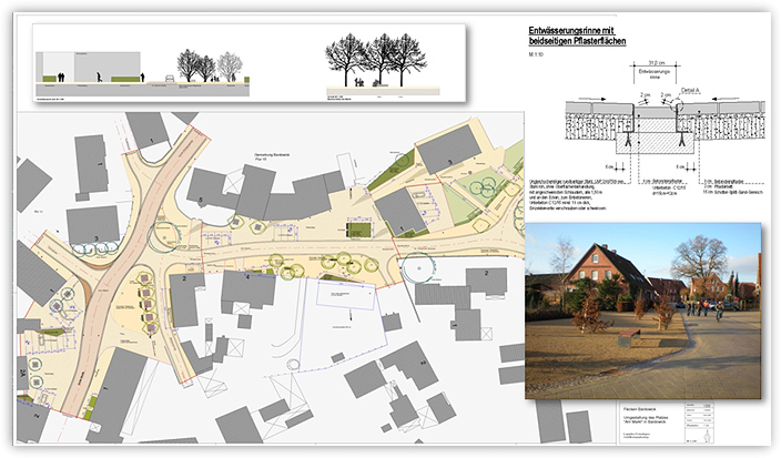 """Umgestaltung des Platzes """"Am Markt"""" in Bardowick"""