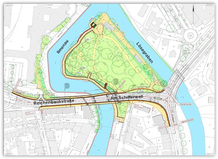 Verkehrsgerechter Ausbau der Reichenbachstraße / Am Schifferwall - Detailplanung