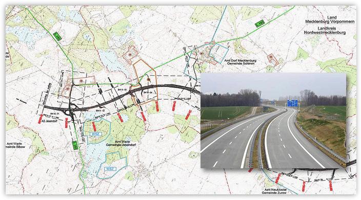 Neubau der A 241 (neu A14) von Schwerin (B 321) bis Wismar (A 20)