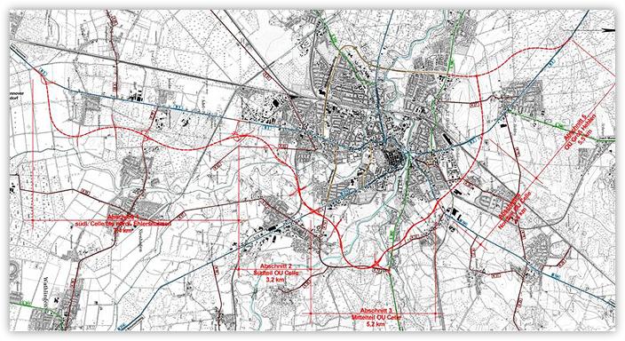 Verlegung der Bundesstraße 3 – Ortsumgehung Celle 1. bis 5. Bauabschnitt