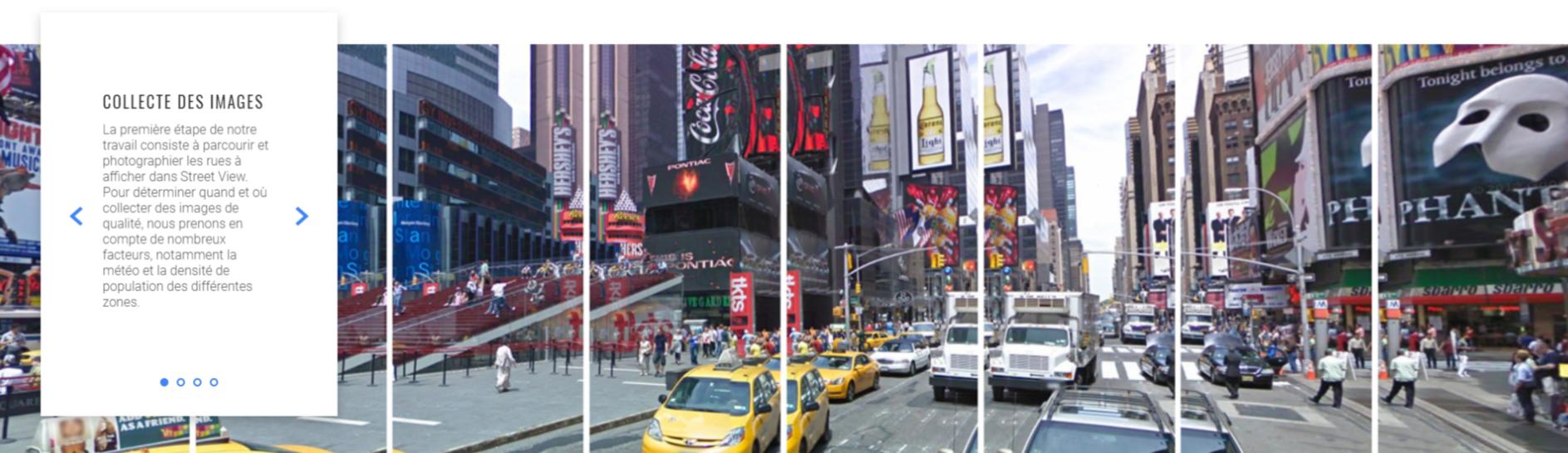 processus de collecte des images Google Street View