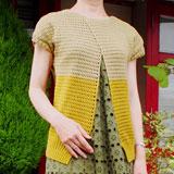 方眼編みのフレンチスリーブサマーセーター