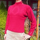 真っ赤なガーンジーセーター