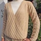 斜め編みのカーディガン