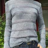 リネンとシルパロンのサマーセーター