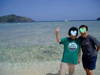 H&M夫妻(沖縄旅行にて)