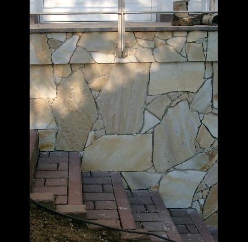 Frontansicht Polygonalplatten