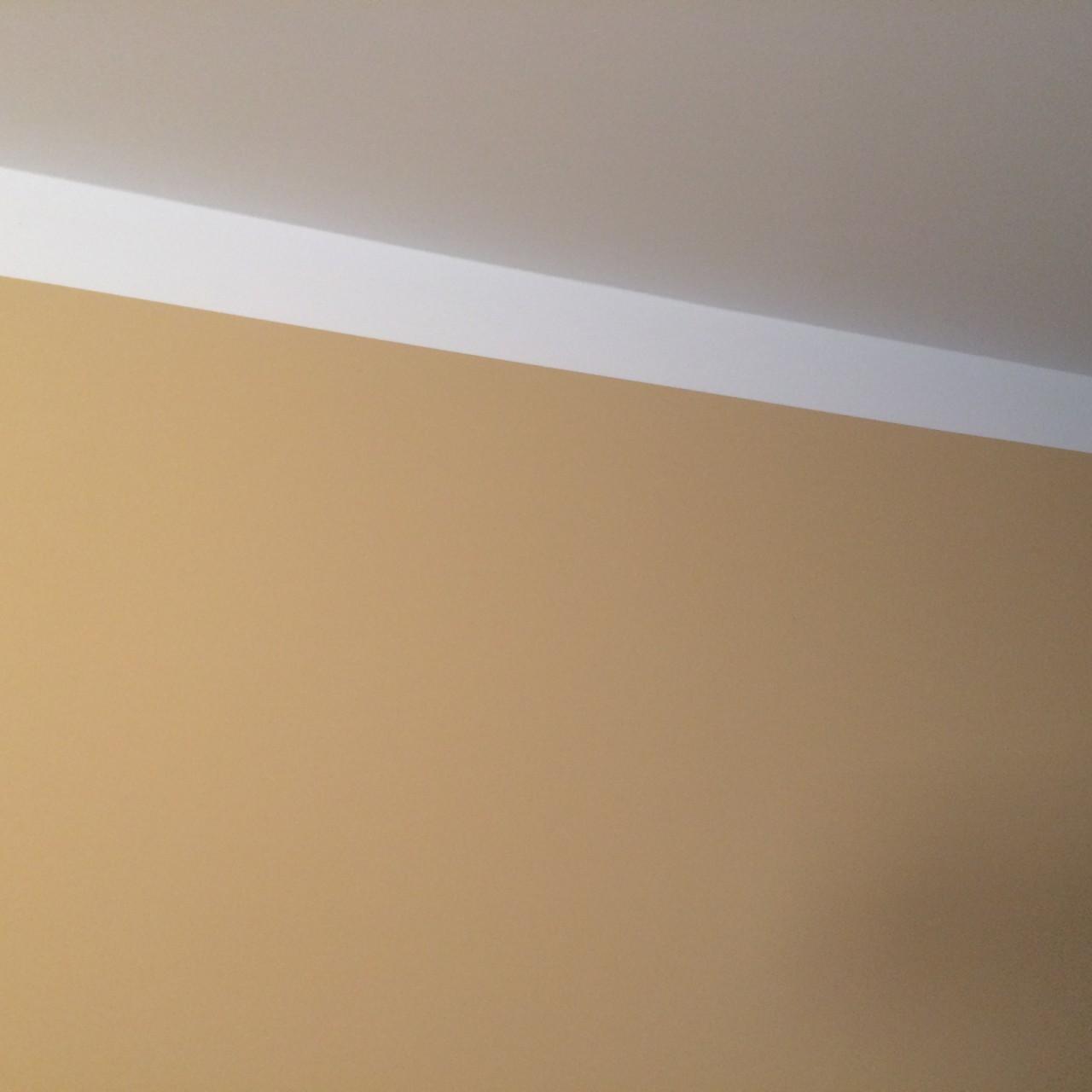 Wand gut gestrichen