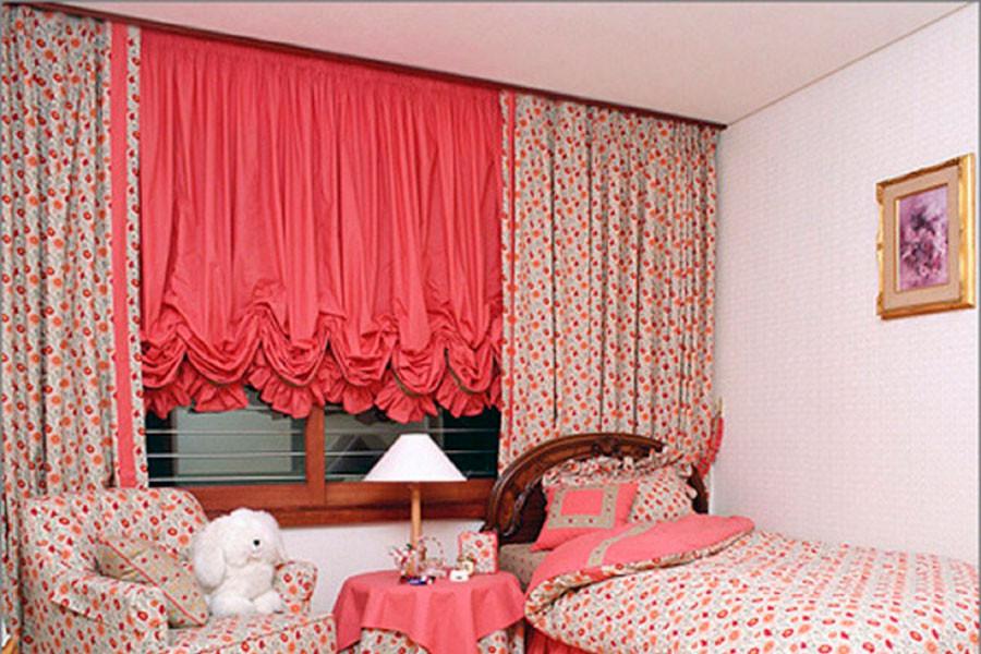 Австрийская штора в детской; ткань -  Me casa